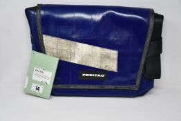 An as new Freitag Dexter F14 blue bag.