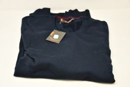 Four as new Ben Sherman crew neck jumpers (Sizes M, L, XL, XXL - RRP £42 each).