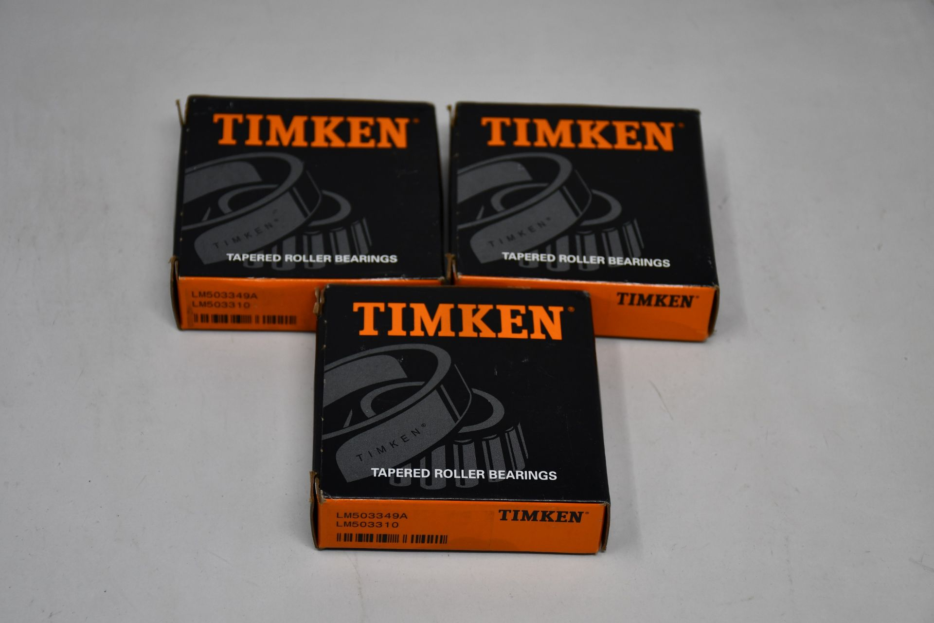 Twenty five boxed as new Timken Tapered Roller Bearing (LM503349A/LM503310).