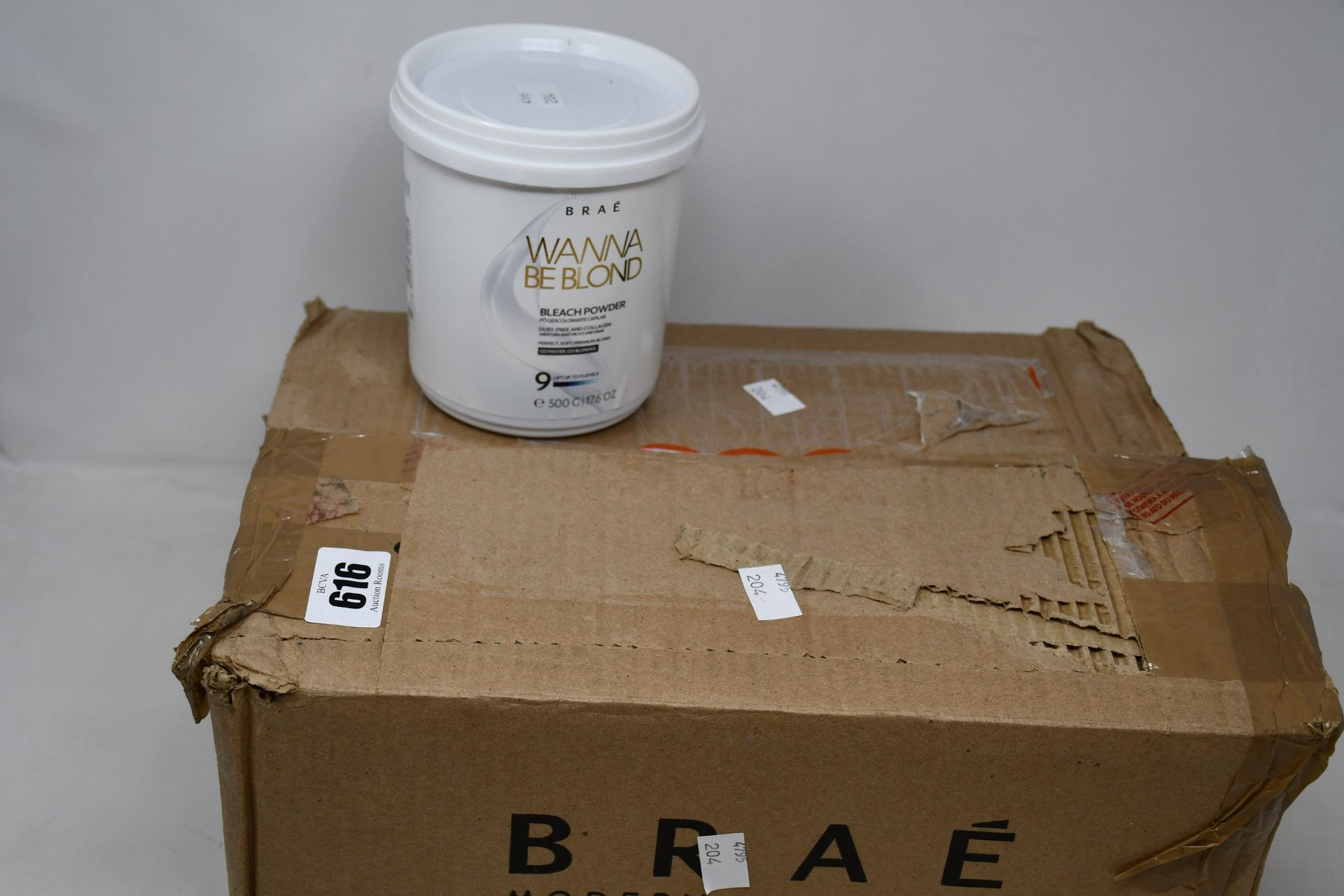 Six boxed as new Brae Wanna Be Blonde bleach powder (Size: 500g).