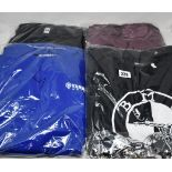 Sixteen assorted as new motorcycle T-shirts to include Triumph, Harley Davidson, BMW and Yamaha (