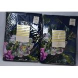 Four as new Oasis Renaissance 180TC Percale Duvet Cover Sets (Two king 230 x 220cm, two double 200 x