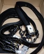 """Eight men's Atlanta and four Nashville Monti Leather belts in black, all as new (36"""", 38"""" and 40"""")."""