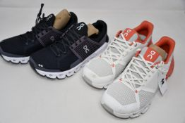 Two pairs of women's as new On Running trainers (UK 5 - No boxes).
