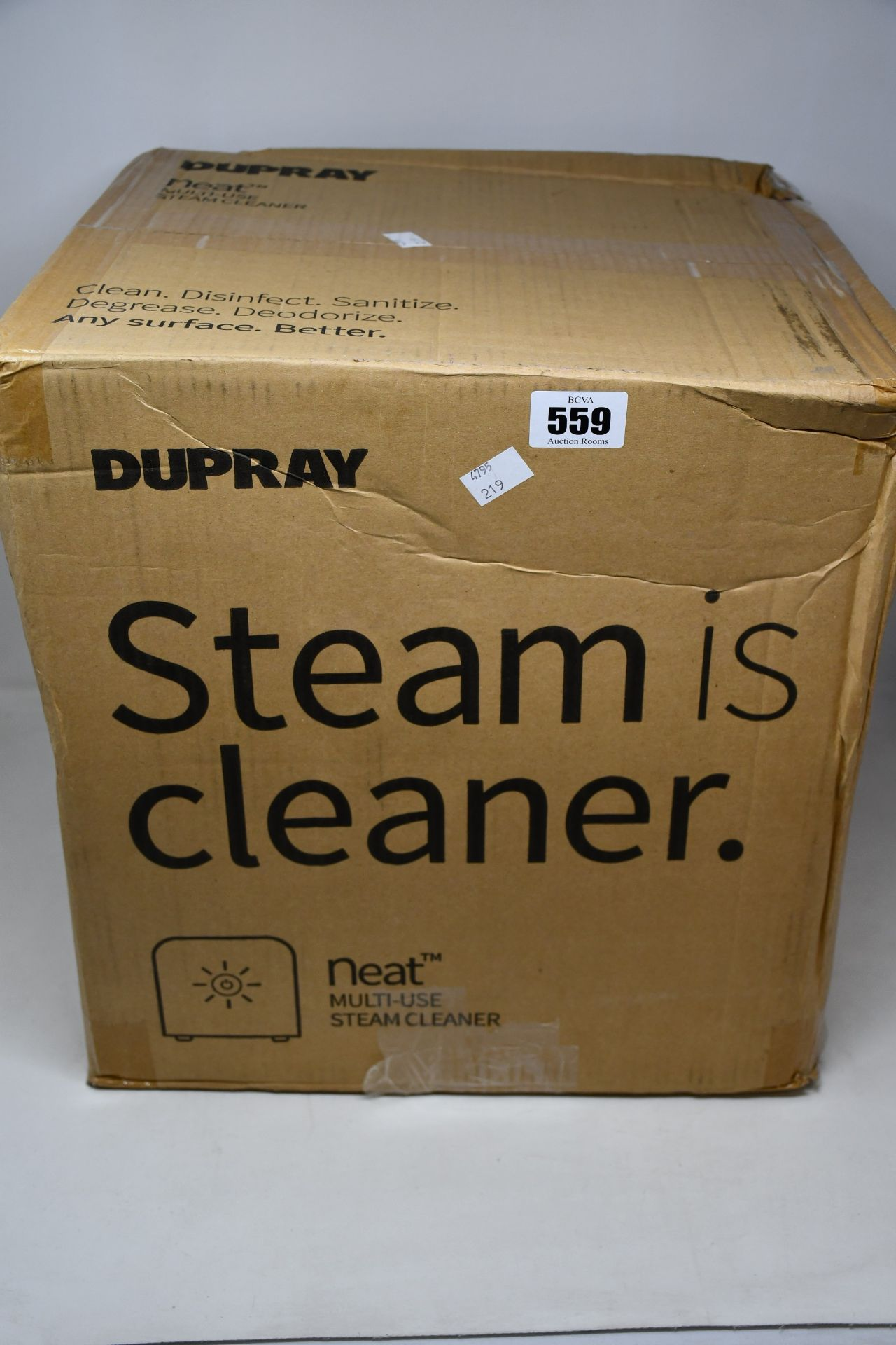One boxed as new Dupray NEAT Multipurpose Heavy Duty Steamer (Model: DUP020WUK).