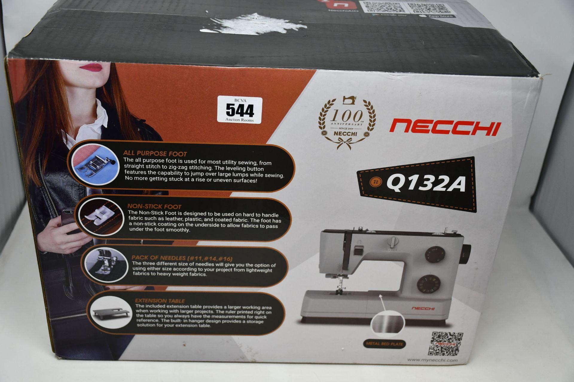 A boxed as new Necchi Semi Professional Sewing Machine (Q132A).