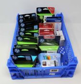 A quantity of assorted as new printer cartridges to include Canon, HP and Brother.