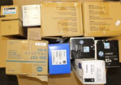 COLLECTION ONLY: A quantity of assorted as new printer ink/toner cartridges including HP, Katun
