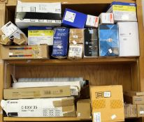 COLLECTION ONLY: A quantity of assorted as new printer parts and ink/toner cartridges including