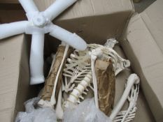 One full size Human Skeleton Anatomic Model on wheeled base. Assembly required, missing parts.