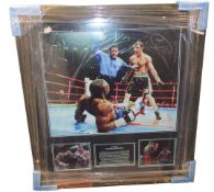 One as new AllStar Signings Joe Calzaghe signed photo (Vs Jeff Lacy with certificate of