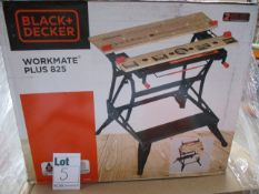 Two boxed Black and Decker Workmate 825 Plus.