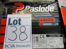 Four boxes of PASLODE 141071 63mm X 2.8mm IM360ci Ring Shank Galv Nails x 3300 with 3 fuel cells (
