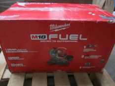 A boxed as new Milwaukee M18FMS254-0 18V Fuel 254mm Brushless Cordless Mitre Saw.