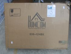 One boxed Homcom L-shaped or straight 3-piece home office desk in black.
