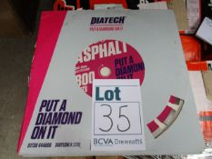 Five as new Diatech APR20 Asphalt diamond blades.