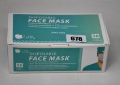 Two thousand boxed as new disposable face masks.
