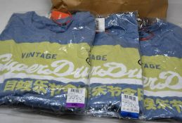 Eight as new Superdry Vintage Logo Pastel T-Shirt (3 x M, 1 x L, 1 x XL, 2 x XXL, 1 x XXXL).