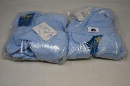 Six children's as new Satila Diamond hats in light blue (Size 46/48).