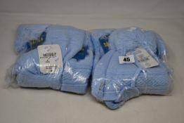 Six children's as new Satila Diamond hats in light blue (Size 50/52).