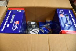 A quantity of boxed as new Brigade driving global safety equipment to include camera monitor system,