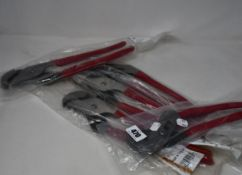 Five as new Mac Tools self gripping 14 inch pliers (M414G).
