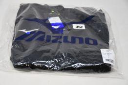 Six as new Mizuno Terry hoodies in black (All S - RRP £30 each).