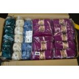 Ten packs of ten Stylecraft Special double knit yarn (100g) in various colours including plum,
