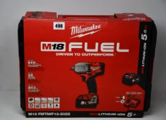 A boxed as new Milwaukee M18 Fuel Impact Wrench (FMTIWF12-502X).