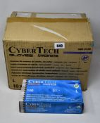 One Thousand Cybertech Nitrile Gloves - Large. Blue Mint.