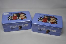 Four Mafalda Collection by Quino: Eleven volumes in a can (Limited edition, three sealed one