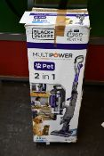 One boxed Black + Decker multipower pet cordless vacuum cleaner.