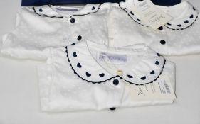 Ten girls as new Rachel Riley London Heart embroidered blouses (2Y, 3Y, 4y, 5Y, 2 x 6Y, 2 x 7Y, 2