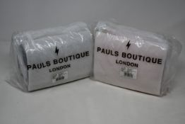 Four as new Pauls Boutique Mini Christy bags (Three dusty pink, one black).