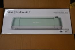 A boxed as new Cricut Explore Air 2 Smart Cutting Machine in mint.