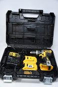 One boxed DeWalt brushless 18v cordless combi drill to include two DeWalt 18V 2.0AH LI-ION XR