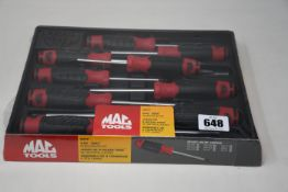 An as new MAC Tools SD9TR Torx screwdriver set in red.