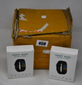 Ten as new ROhS Smart Band Your Health Steward fitness watches in teal colour.