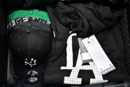 Five as new New Era American football/baseball team caps, New Era sun hat, New Era Raiders T-