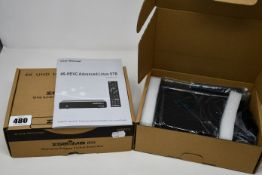 Two boxed as new ZGEMMA H9S 4K UHD multistream satellite receivers (One tuner Enigma 2 Linux Smart