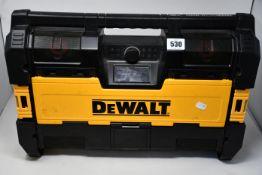 A DeWalt Tough System On-Site Radio and Bluetooth Sound system.
