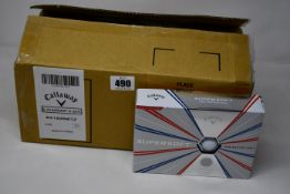 Six boxes of twelve as new Callaway Supersoft golf balls.