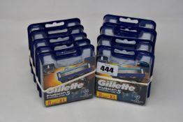 Ten packs of eight as new Gillette Fusion5 Proglide razor blades.