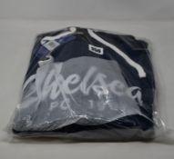 Three as new Official Chelsea Football Club script hoodies (All XL - RRP £45 each).
