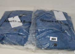 Two as new House of Sunny Western full length shackets (UK 8 and 10 - RRP £75 each).