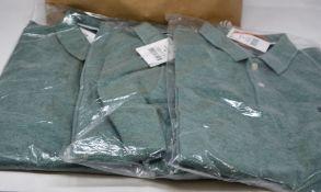 Six as new Superdry Classic pique polo shirts (2 x M, 3 x L, 1 x XXXL - RRP £35 each).