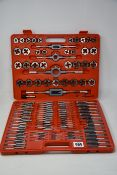 One as new 110-piece Tap & Die tool set.