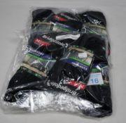 Eleven packs of three pairs of Bridgedale Unisex Everyday Lightweight Performance Socks in black (