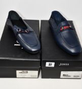 Two pairs of as new Jones Bootmaker Mallory loafers (UK 10, 11 - RRP £89 each).