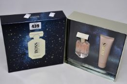 Three Hugo Boss 'The Scent' for her gift sets to include 30ml eau de parfum and 50ml body lotion.